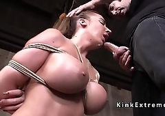 Huge tits and ass beauty rough fucked