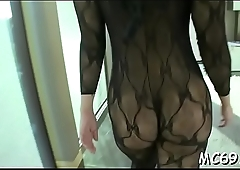 Enchanting pussycat needs u to touch her bigtits in silence
