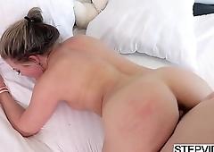 Stepmom Carmen Valentina seducing her stepson