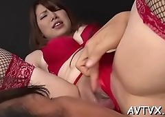 Asian babe gives stud a fantastic cock riding experience