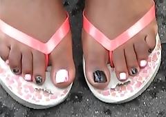 Jasmine Doss Black &amp_ Pink Toes