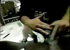 Waxing black hard cock - SpyHappyEnding.com
