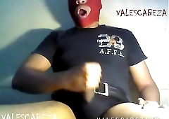 ValesCabeza173 RED MASKED CUMSHOT!!! LECHAZO ENMASCARADO ROJO