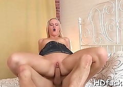 Horny babe with pink hole gets impaled on rod enjoys hardcore