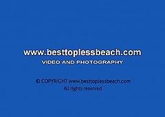 Beauty girl Topless on the Beach