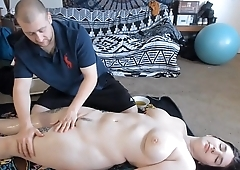 Oiled Up Anal Sex After Massage Regarding Teen PAWG