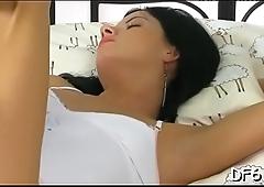 Lucky male enjoys ache &amp_ pleasure of his blameless girlfriend