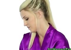 Gorgeous masseuse facial