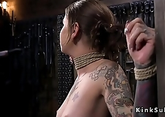 Alt slave in bondage gets whipped