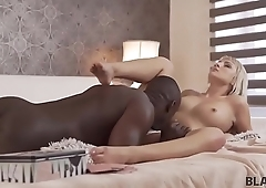 BLACK4K. Sexy blonde lost her pussy