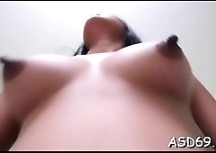 Alluring cutie licks her boyfriend and gives a fantastic ride