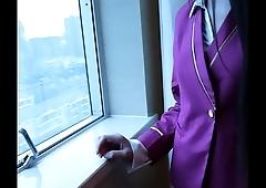 學院派女神雨珍超清私拍 求職被潛規則 遙控跳到自慰 情趣絲襪制服誘惑~04
