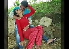 Girl enjoy with boy friend boobs press