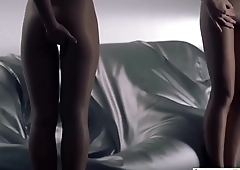 LesbianCUMS.com ⇨ Sweet Lesbian Panties Out Strapon Fucking