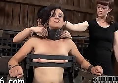 Girl gets her nipps licked before painful clamping