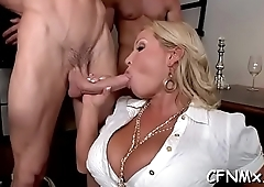 Nasty babe has hardcore cfnm sex getting her butt drilled deep
