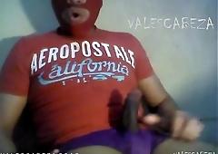 ValesCabeza168 AMAZING RED MASKED PURPLE SPEEDO enmascarado rojo deslechado  en speedo morado