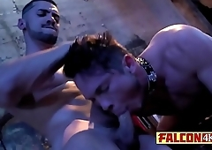 Naughty guys carry the group gay domination