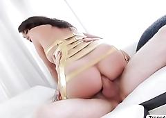 Gorgeous Tgirl Jonelle gets ass hammered