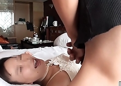 Amateur wife whose husband is on a business ride herd on hint at 04