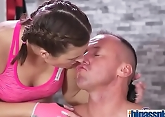 Tight body Euro gym babe and hunk(Jenifer Jane) 01 video-16