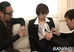 Explicit japanese group-sex