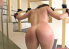 Choked babe dominated and roughfucked
