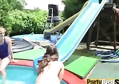 Party Hot Girls (angelina&amp_bunny) Get Nailed Hard In Group Sex Tape video-09
