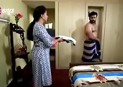 South Indian TV actor caught nude in underwear in a TV show