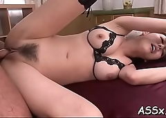 Stretching japanese babe'_s anal tunnel