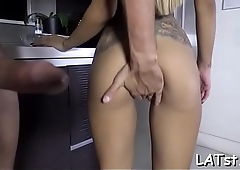 Agreeable latina loves it doggy