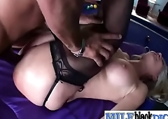 Superb Mature Lady (lisa demarco) Ride Big Black Monster Cock video-14
