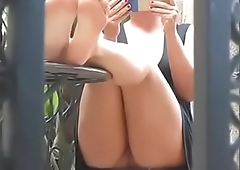 Cams4free.net - Upskirt Milf Reading Book Barefoot