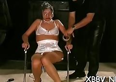 Fake penis porn in bondage video