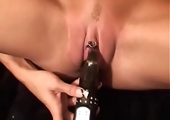 Slim german hot girl with rabbit on clit! Must see!