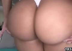 Big ass Rose takes anal
