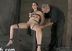 Sweet gal next door waits for her hardcore bdsm agony