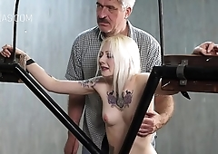 Blonde slaves punished