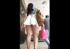 Upskirt fingering at metro