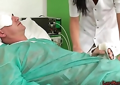 Nurse Gives Oral Pleasure
