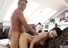 Fat old granny s and girl licks man fucks him but right here and