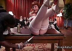Caning fucking and Sybian riding at orgy combo unite