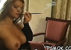 Wild women enjoyable perpetually other while smoking